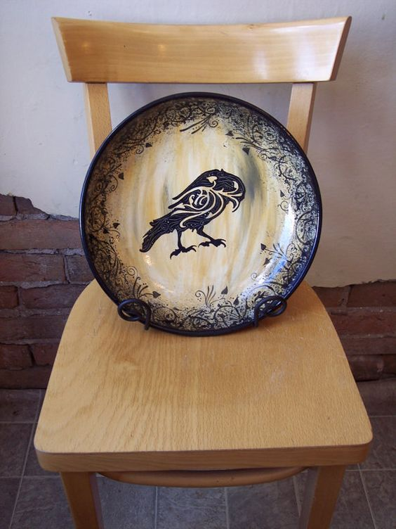Original Raven Pasta Bowl from Jo at Fat Cat Pottery