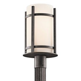 Kichler Lighting Camden 17-In H Anvil Iron Post Light 49123Avi