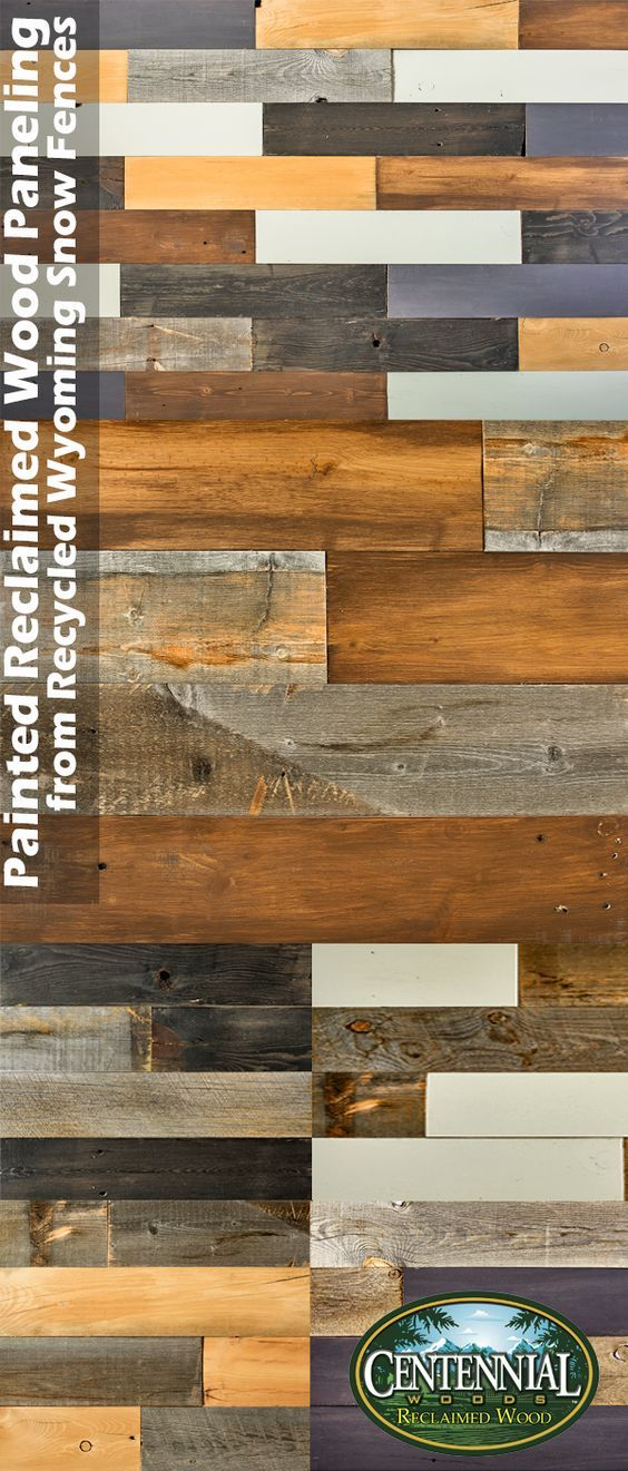Painted Wood Paneling Made From Reclaimedwood Custom Planks Milled From Recycled Wyoming Snow Fence Bo Painting Wood Paneling Wood Reclaimed Wood Accent Wall