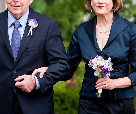 Consider skipping the corsage and giving your mother and grandmother a nosegay that matches your bouquet.
