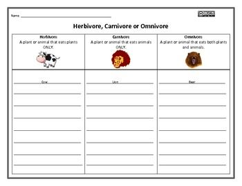 herbivore carnivore omnivore graphic organizer worksheets. Black Bedroom Furniture Sets. Home Design Ideas