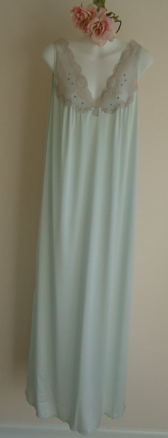 Vintage 1970s Simpson's Light Blue Nightgown on Etsy, $53.23 CAD