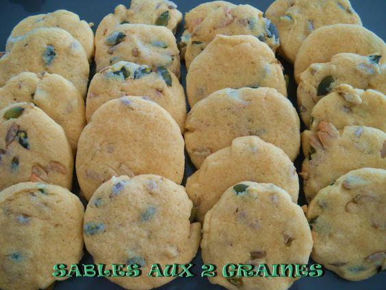 GATEAU GAGA - Love cakes: Sablés aux 2 graines