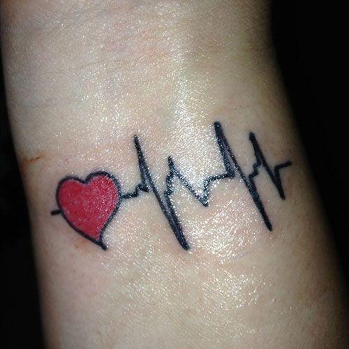 51 Cute Heart Tattoo Designs You Will Love 2020 Guide Heartbeat Tattoo Heartbeat Tattoo On Wrist Heart Tattoo Wrist
