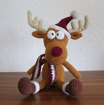 Crochet Pattern For 18 Inch Doll Shoes : Deer pattern, Amigurumi and Deer on Pinterest