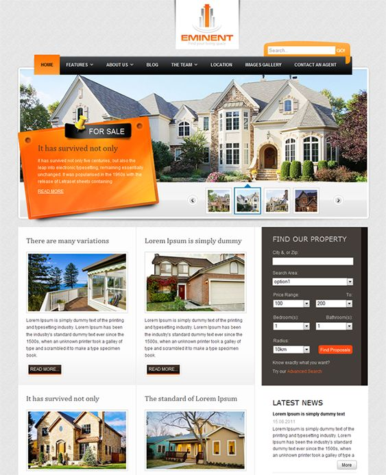 10 best 10 of the best joomla real estate templates images on this real estate joomla template comes with 3 predefined color schemes 11 module positions pronofoot35fo Gallery