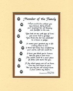 Dog or cat poem wall decor pet saying dog saying home amp kitchen