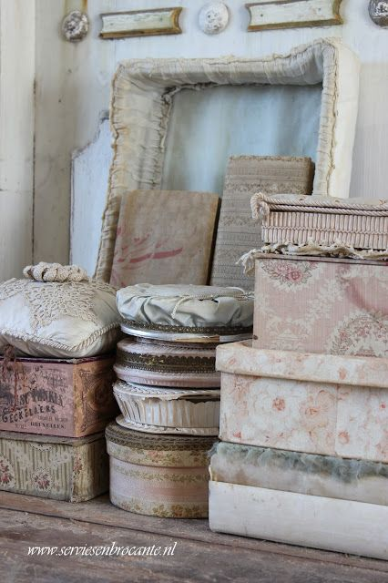 Servies en Brocante, my boxes