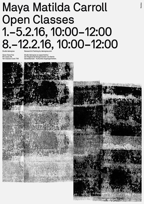 Series of posters for the 'Production' & 'Research' programme of laborgras, one of Germany's most important contemporary dance collective founded and led by Renate Graziadei and Arthur Stäldi.Typeface: LG Regular™ (customized version of NB National™)De…