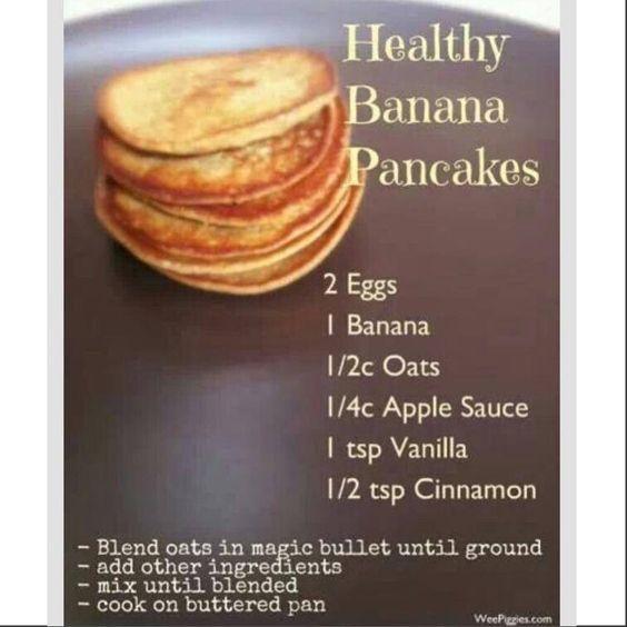 Gluten free banana pancakes.