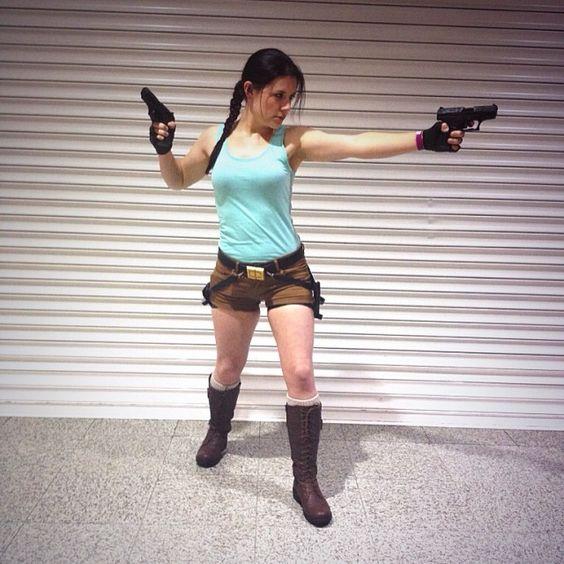 My Lara Croft cosplay at London MCM Expo #cosplay #laracroft #laracroftcosplay #tombraider #londonexpo #mcmexpo #guns #badass