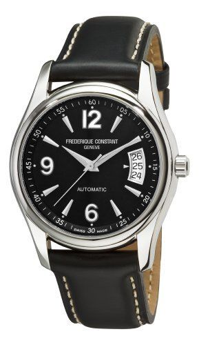 Frederique Constant Men's FC-303B4B26 Junior Black Dial Watch Frederique Constant. $566.70. •Automatic movement•Stainless steel case•Black dial•Buckle•Water-resistant to 165 feet (50 M). Save 31%!