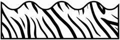 zebra bulletin board boarder