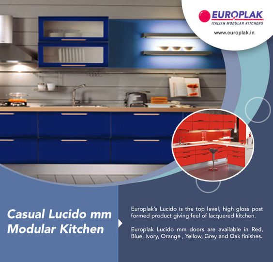 #Casual Lucido mm #Modular #Kitchen For more details Visit : http://www.europlak.in/