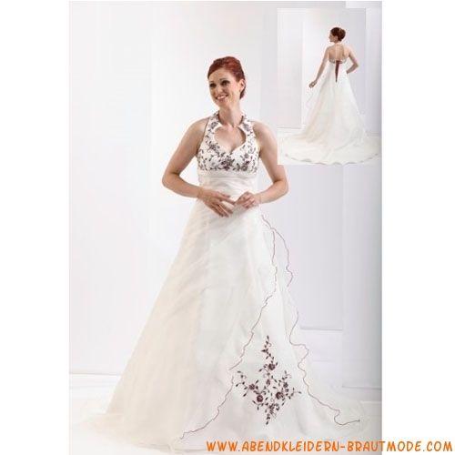 2012 Traumhaftes sexy Brautkleid aus Satin V-Ausschnitt ...