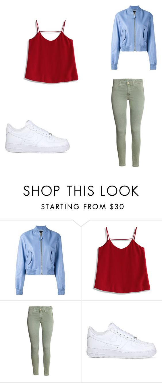 """""""tenue"""" by anissakhl on Polyvore featuring V2 by Versace, Chicwish et NIKE"""