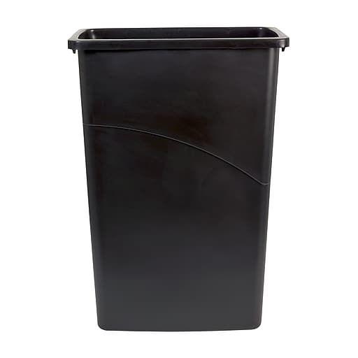 Brighton Professional Slim Wastebasket Black 23 Gallon Waste