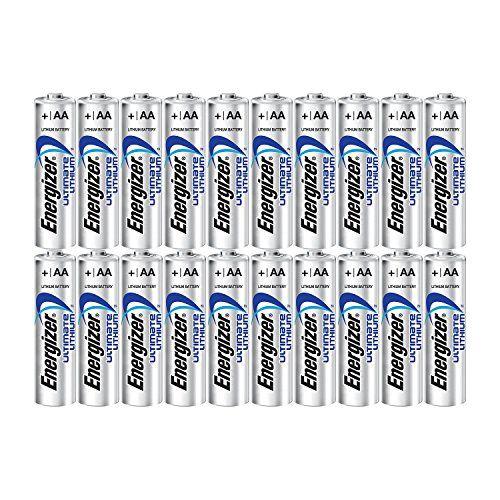 Energizer Ultimate Lithium Aa Size Batteries 20 Pack En Https Www Amazon Com Dp B004eft2bu Ref Cm Sw Energizer Energizer Battery Lithium Battery Charger
