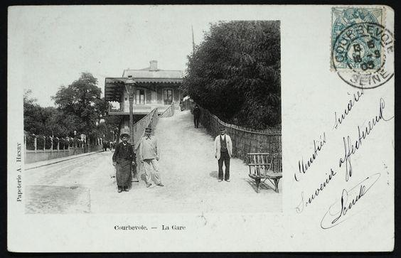 Courbevoie Gare A Courbevoie Gare Cartes Postales Anciennes