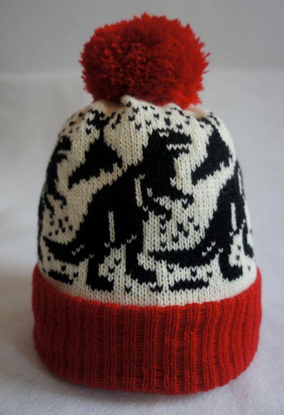 Boys Knitted T Rex Dinosaur Pom-Pom Bobble Hat /& Navy Gloves