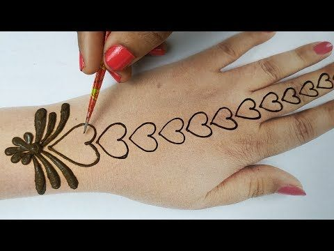 Stylish And Easy Mehndi Designs Pics