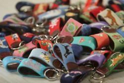 needlepoint keychains