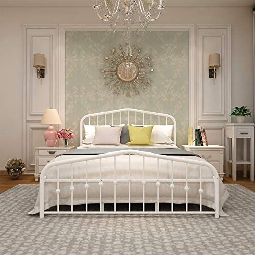 Metal Bed Frame Queen Size Platform No Box Spring Needed With