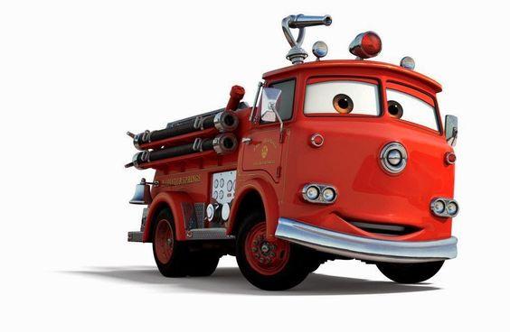 カーズの消防車のレッド