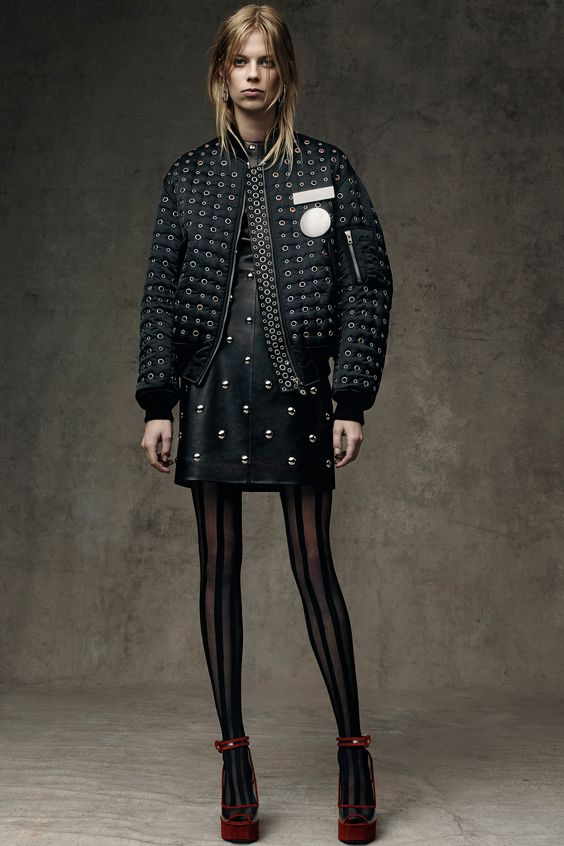 Bomber is the new black! Alexander Wang Pre-Fall 2016 Collection Photos - shop at http://www.glamelement.com/#!product-page/c6np/db59d741-8046-7d4c-c1f2-a47497331728