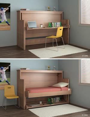 Convertible furniture for small spaces multipurpose for Small space solutions bedroom