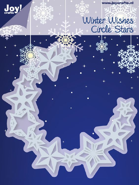6002/2042 Noor! Design Winter Wishes Circle Stars