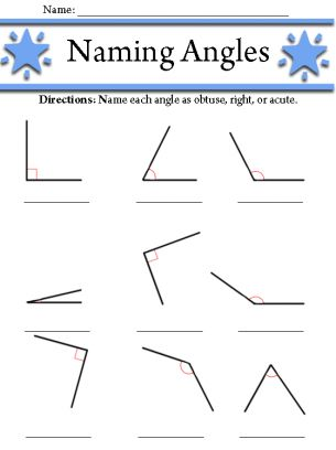 Angle Classification, 4th grade geometry worksheets | Mathématique ...
