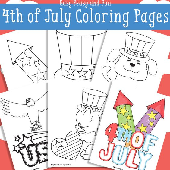 4th of july coloring images