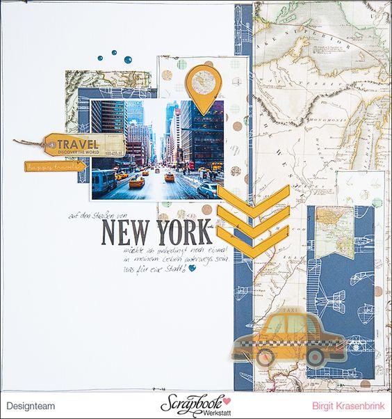 Designteamarbeit für die Scrapbook-Werkstatt - aus einem Mix der Serie Hello World! von My Mind´s Eye und Jack & Jill {Boy} von Echo Park Paper - SCRAP´inFeACTed