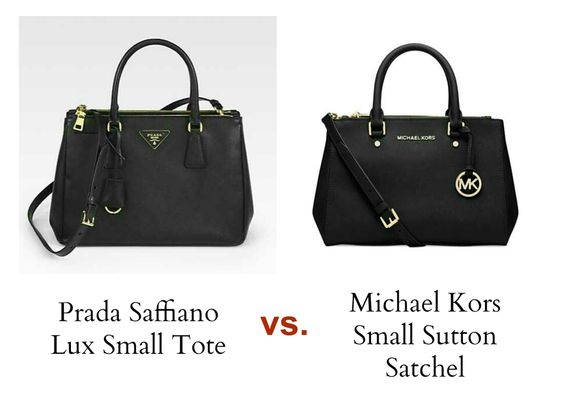 prada bags wholesale - Bag Review Michael Kors Sutton Satchel in Black Small versus Prada ...