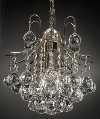 French Empire Crystal Chandelier Chandeliers Lighting , SILVER , H13 X Wd12 , 3 Lights by JAC D'LIGHTS, http://www.amazon.com/dp/B0062L2JFU/ref=cm_sw_r_pi_dp_Y8E4qb1AN8FCE