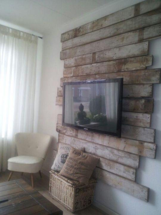 muebles de palets para la televisión  Decoración  Pinterest  I