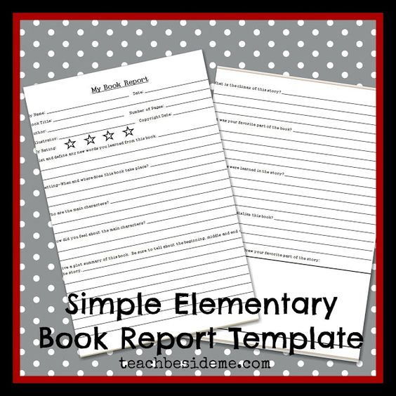 Free Book Report Printable   Great for lower primary grades  It also could  be a