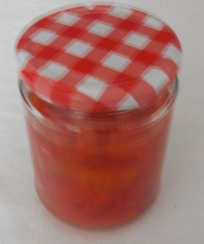 Conserva de pimientos con ajo