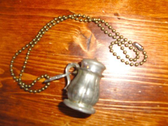 Pewter Salt Shaker Necklace