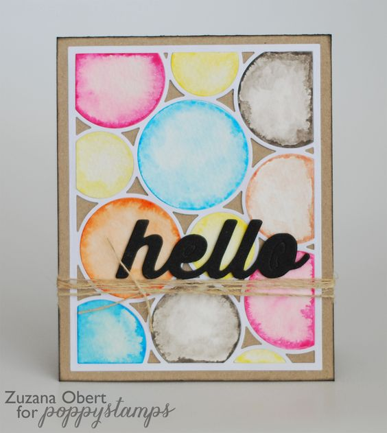 Hello Poppystamps friends. It's Zuzana here, with my new card for you to share. Do you know what's the latest trend in cardmaking