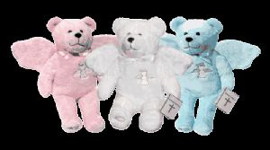 Guardian Angel Bears - White, Blue, Pink Holy Bears - Guardian Angel Holy Bear  - Religious First Communion Gifts & Presents for Boy or Girl