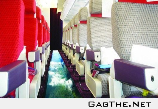 The first plane to have a glass floor