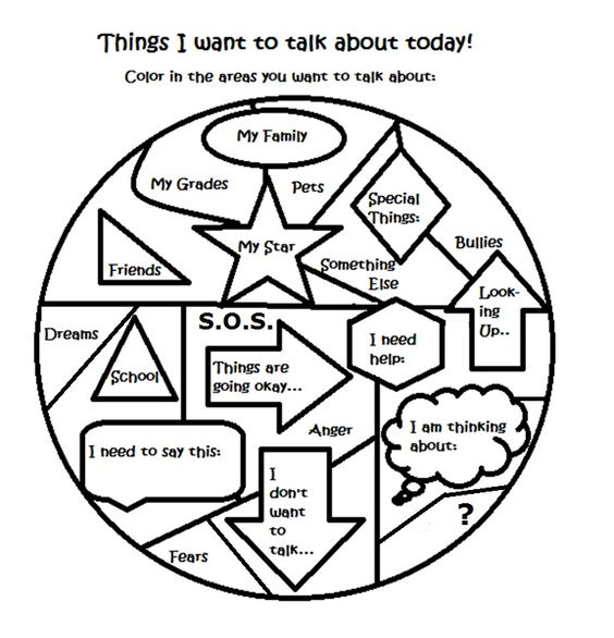 Free art therapy counseling group activity worksheet | Social Work ...