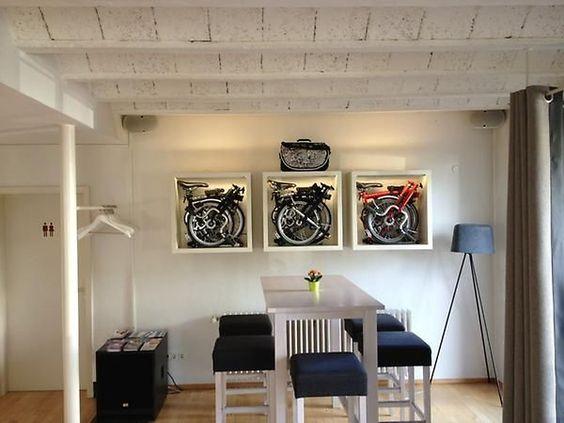 Brompton bike rack  - almost looks like a trophy cabinet :):
