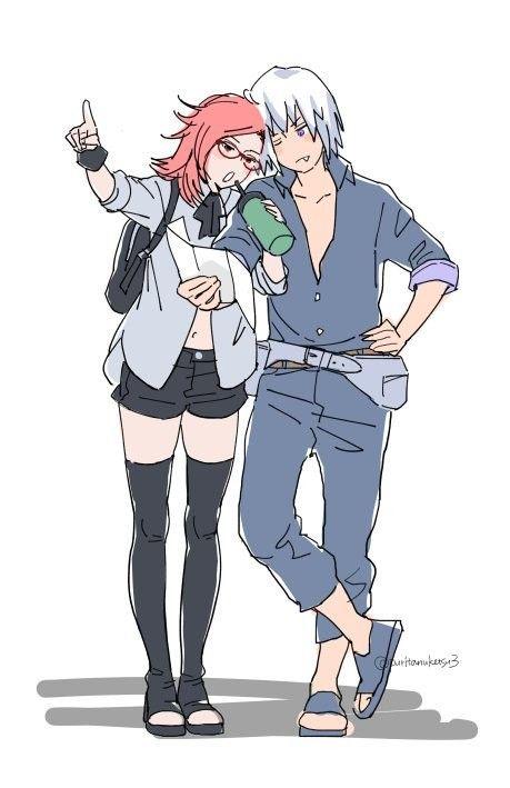 Suigetsu And Karin Menina Anime Referencia De Desenho Naruto Personagens