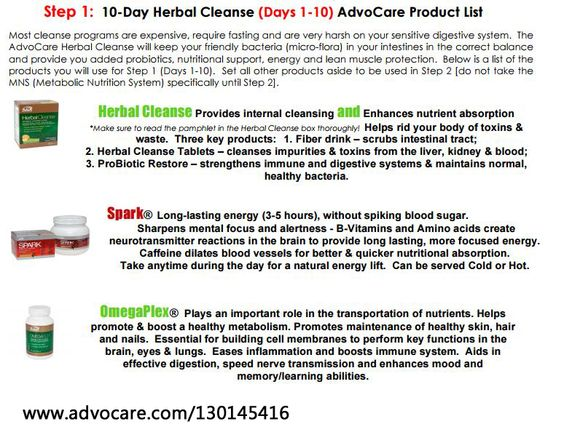 BEST 10 day cleanse.  NO starving, you actually learn how to eat properly on this cleanse! yay!