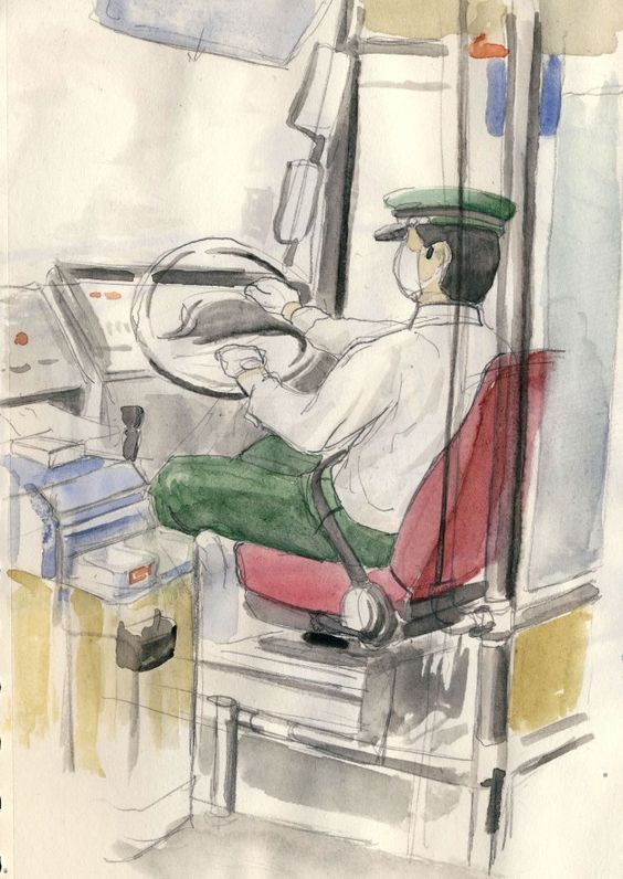 bus driver in Kyoto