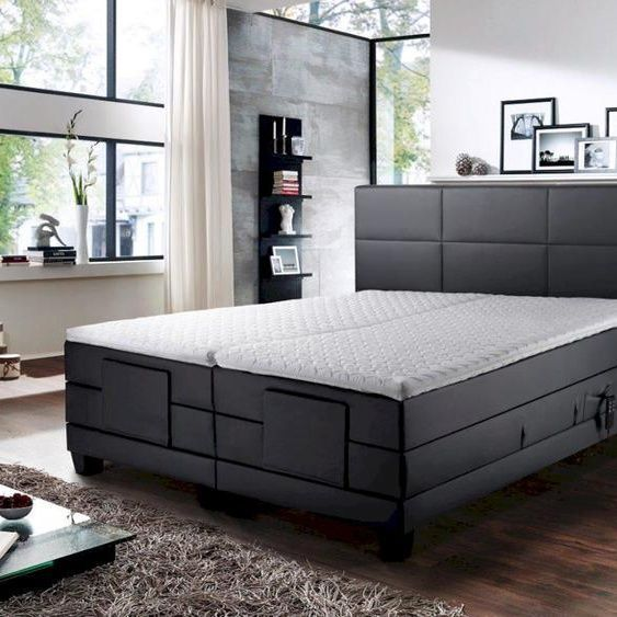 Winkle Elektro Boxspringbett Doris 200x200 Cm Ohne Matrazen Kunstleder Taupe 8944 In 2020 Box Spring Bed Mattress Luxury Bedroom Design