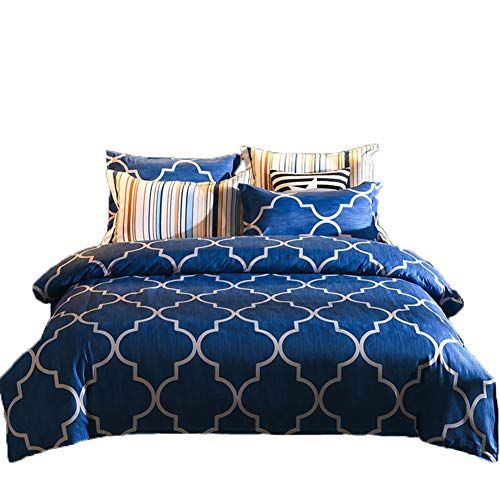 Cleave Waves 3 Pieces Duvet Cover Set Dark Blue Colors 1 Duvet Cover With Zipper 2 Pillowcases 100 Cotton Cool Black Duvet Cover Duvet Cover Sets Duvet Covers